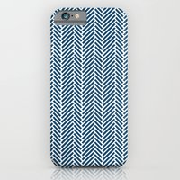 Herringbone Navy Inverse iPhone 6 Slim Case