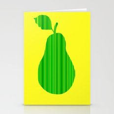 Striped Pear Stationery Cards