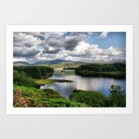 Loch Laggan, Scotland Art Print