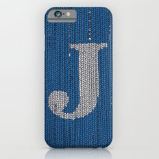 Winter clothes. Letter J II. iPhone 6 Slim Case