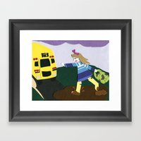 Running Late Framed Art Print