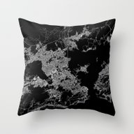 Rio Map Brazil Throw Pillow