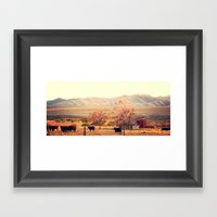 Idaho Farm Framed Art Print