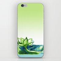 Green Lotus iPhone & iPod Skin
