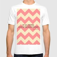 Chevron Love Mens Fitted Tee White SMALL