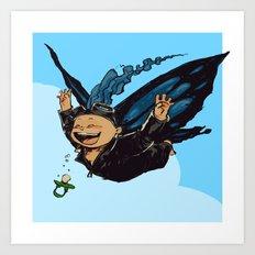Butterfly boy Art Print