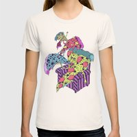 Pizza Eating Pizza - Pin… Womens Fitted Tee Natural SMALL