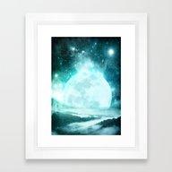 A Moon So Bright Framed Art Print