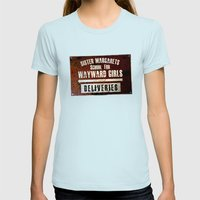 Sister Margaret's School For Wayward Girls Womens Fitted Tee Light Blue SMALL