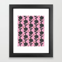 Flowered Tree. In Pink Framed Art Print