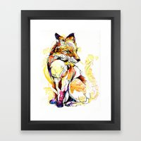 Fox Flow Framed Art Print
