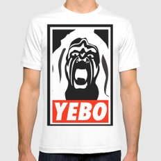 YEBO WARRIOR White Mens Fitted Tee SMALL