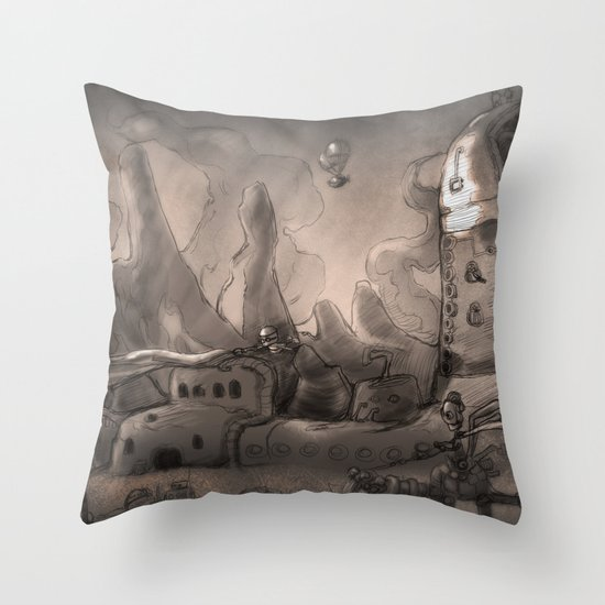 Trouble  Throw Pillow