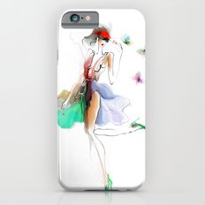 the girl with butterflies iPhone 6s Slim Case