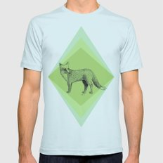 fox in forest Mens Fitted Tee Light Blue SMALL