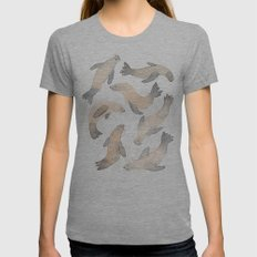 My Lips Are Seals Womens Fitted Tee Athletic Grey SMALL