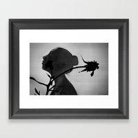 a flower's silhouette  Framed Art Print