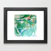 Melody In Green  Framed Art Print