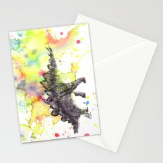 Stegosaurus Dinosaur in Splash of Color Stationery Cards