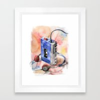 Vintage gadget series: Sony Walkman TPS-L2 Framed Art Print
