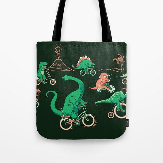 Dinosaurs on Bikes! Tote Bag