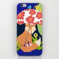 Fox In Galoshes At Night iPhone & iPod Skin