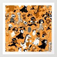 Alt Monster March (Orang… Art Print