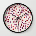 Tree of Life_Berry by Jacqueline Maldonado & Garima Dhawan Wall Clock
