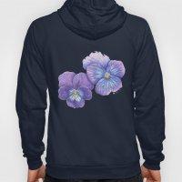 Purple Pansies Hoody