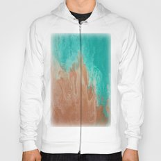 Ocean and Sand Abstract Hoody