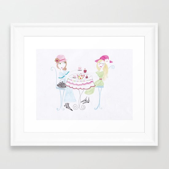 The tea party :) Framed Art Print