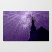 Starry Night - JUSTART �… Canvas Print