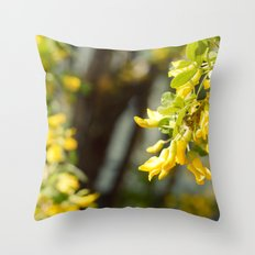 Yellow Pearls Throw Pillow