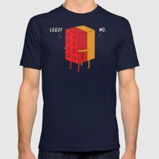 I'll Never Lego Mens Fitted Tee Navy SMALL