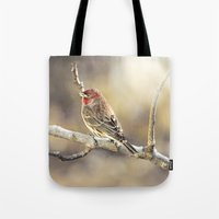 Rosy Little Finch Tote Bag
