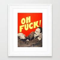 Oh F*#k ! Framed Art Print