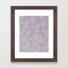 Faded Desert Floral Framed Art Print