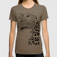 Ursula Womens Fitted Tee Tri-Coffee SMALL