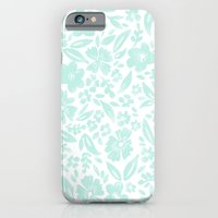 Stamp Floral Pattern iPhone 6 Slim Case