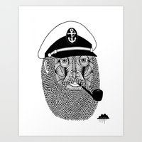 Captain Monkey Pants Of The Sea Art Print