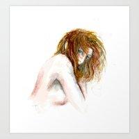 Hidden Girl Art Print