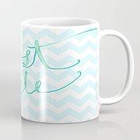 Just Smile - hand lettered calligraphy art print Mug