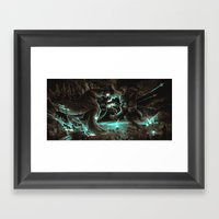 Godzilla Vs Kingkong Bro… Framed Art Print