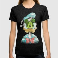 Duck Magritte Womens Fitted Tee Tri-Black SMALL