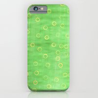 Green and yellow abstract painting iPhone 6 Slim Case