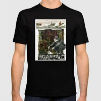 Surfing The History Of Trees Mens Fitted Tee Black SMALL