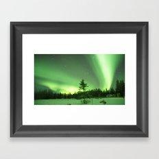 Aurora Borealis in Alaska 3 Framed Art Print
