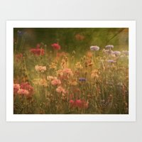 In A Meadow, Painterly Art Print