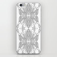 black line structure iPhone & iPod Skin