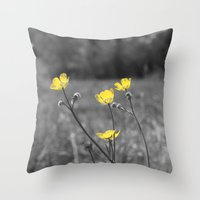 Summers Beauty Throw Pillow